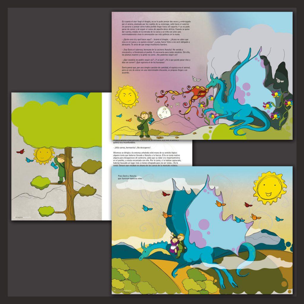 Ilustración Dragón solitario